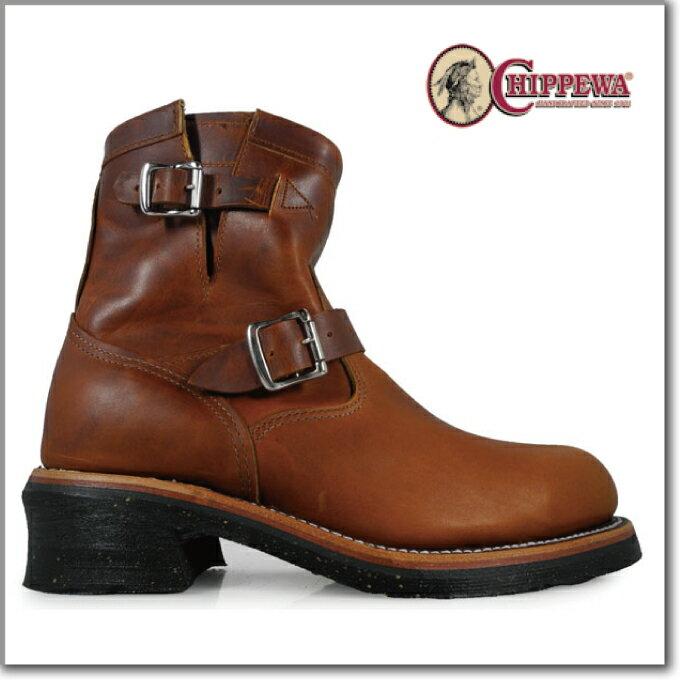 チペワ CHIPPEWA 1901M12 E width TAN Engineer Boots エンジニア ワークブーツ