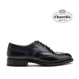 チャーチ Church's BURWOOD BLACK POLISHED BINDER バーウッド ブラック ポリッシュバインダー ブラック 黒 ウィングチップ ドレスシューズ 革靴 メンズ