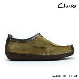 クラークス CLARKS ナタリー オークウッド スエード CLARKS NATALIE 26118170 UK規格 本革 レザー メンズ【送料無料】