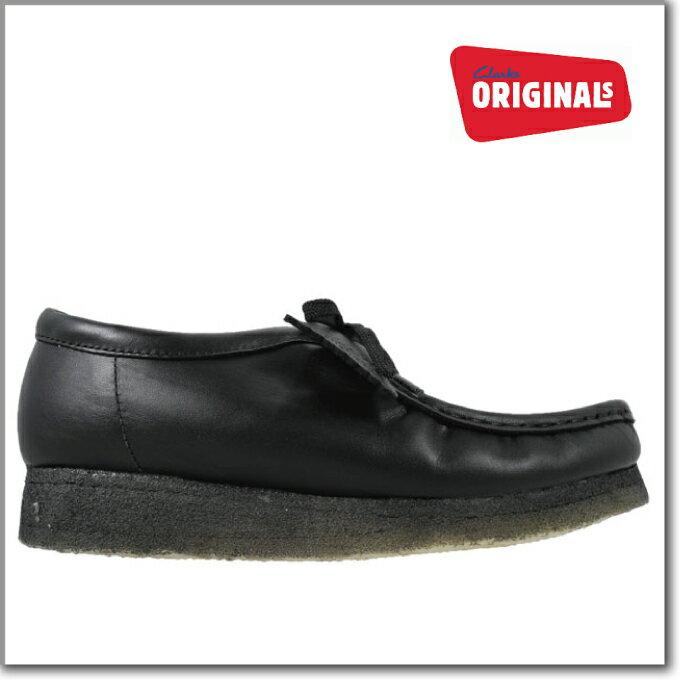 クラークス ワラビーロー ブーツ ブラック レザー 黒 CLARKS 26103756 WALLABEE LO BOOT BLACK メンズ