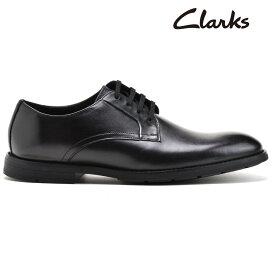 クラークス メンズ ビジネスシューズ オックスフォードシューズ ブラック 黒 CLARKS RONNIE WALK【送料無料】