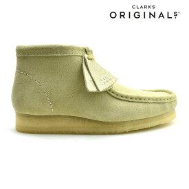 クラークス オリジナルス ワラビーブーツ メンズ ブーツ スエード メイプルスエード クレープソール CLARKS ORIGINALS WALLABEE BOOT【送料無料】