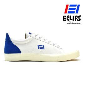エクリプス ECLIPS マカロニアン 42010 ローカット スニーカー ブルー ホワイト レディース メンズ【送料無料】