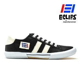 【ポイント10倍】 エクリプス ECLIPS スニーカー メンズ ブラック ホワイト 黒 白 エクリプス マカロニアン 42013