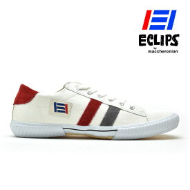 【ポイント10倍】 エクリプス ECLIPS スニーカー メンズ ホワイト グレー レッド 白 黄 青 エクリプス マカロニアン 42013