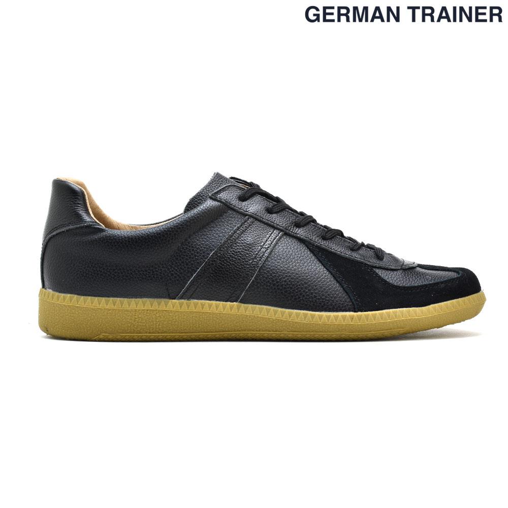 ジャーマントレーナー GERMAN TRAINER 42000 トレーニングシューズ スニーカー ガムソール メンズ レディース ブラック 黒 BLACK