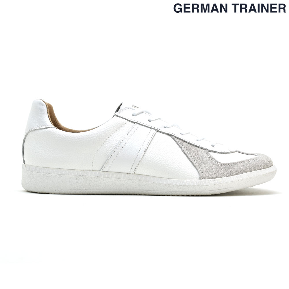 ジャーマントレーナー GERMAN TRAINER 42000 トレーニングシューズ スニーカー メンズ レディース オールホワイト 白 WHITE