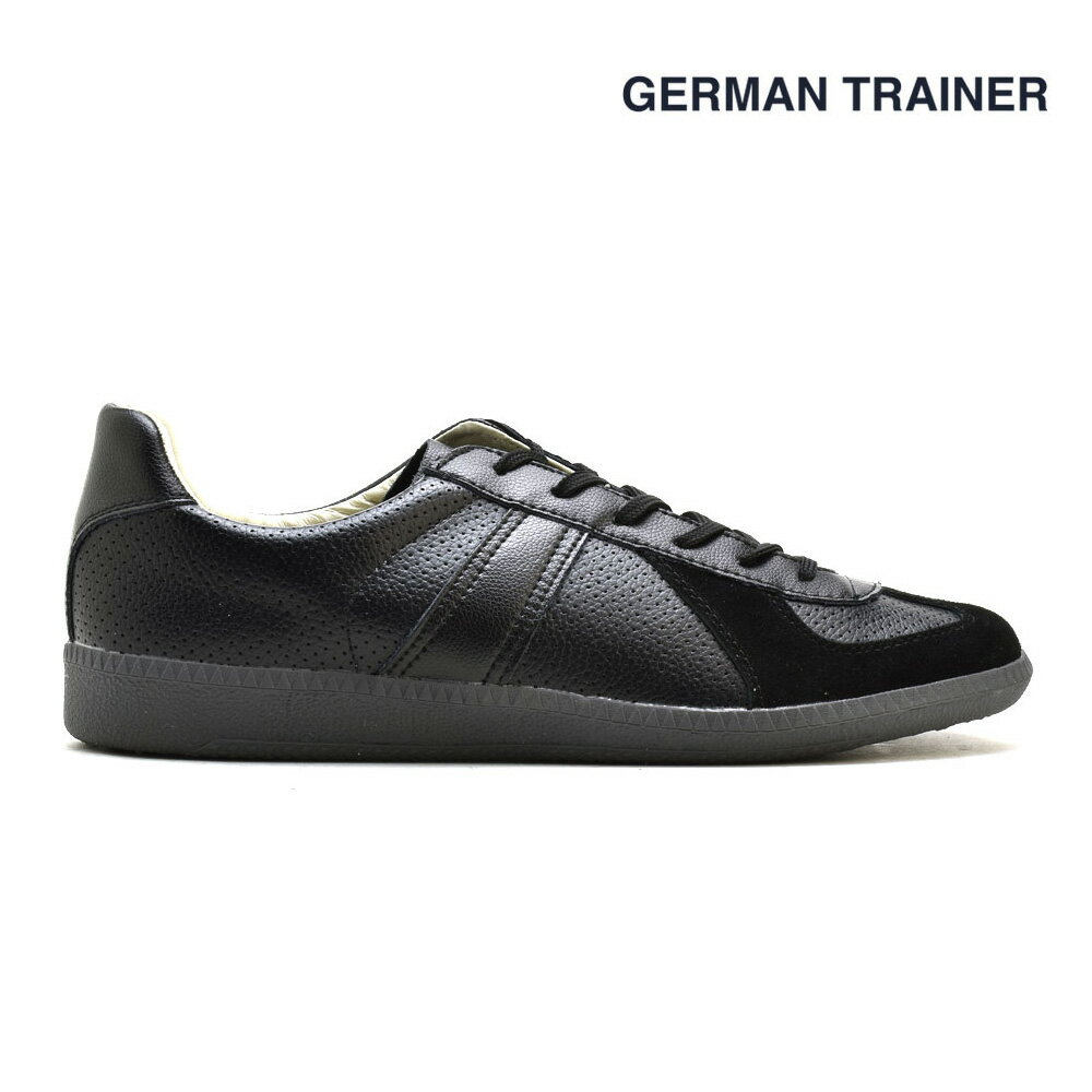 ジャーマントレーナー GERMAN TRAINER 42005 トレーニングシューズ スニーカー ガムソール メンズ レディース ブラック グレー 黒 BLACK