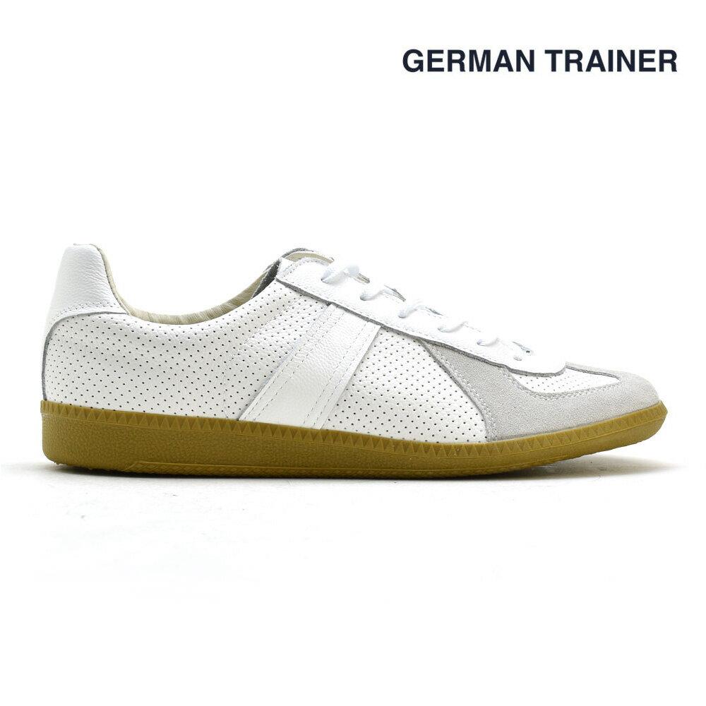 ジャーマントレーナー GERMAN TRAINER 42005 トレーニングシューズ スニーカー ガムソール メンズ レディース ホワイト 白 WHITE