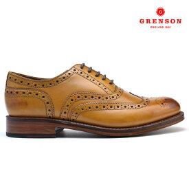 【8/15 0:00〜23:59 エントリー&楽天カード利用でP5倍】グレンソン 靴 メンズ ブーツ 靴 メンズ ブーツ スタンレー タン カーフ GRENSON STANLEY 11,0002 TAN CALF