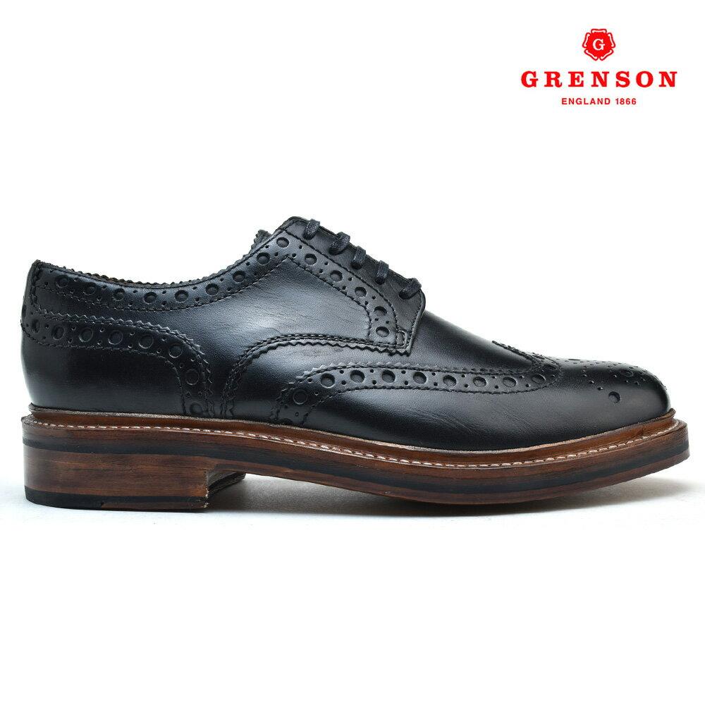 グレンソン GRENSON ARCHIE 110004 CALF 靴 メンズ アーチー カーフブラック 黒 BLACK ブーツ