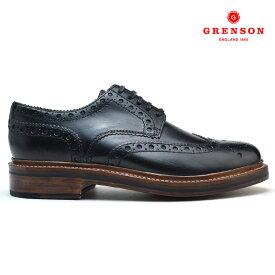 【8/15 0:00〜23:59 エントリー&楽天カード利用でP5倍】グレンソン GRENSON ARCHIE 110004 CALF 靴 メンズ アーチー カーフブラック 黒 BLACK ブーツ