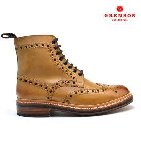 UK6.0 24.5cm グレンソン GRENSON FRED CALF 110011 フレッド カーフ 靴 メンズ タン TAN ブーツ