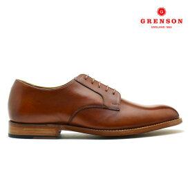 グレンソン GRENSON LIAM HAND PAINTED 111638 リアム ハンド ペインテッド カーフ 靴 メンズ タン TAN ドレスシューズ【送料無料】