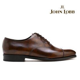 ジョンロブ JOHN LOBB CITY2 シティ2 ブラウン パリジャンブラウン キャップトゥ オックスフォード ビジネス ドレス 革靴 シューズ イギリス製 メンズ【送料無料】