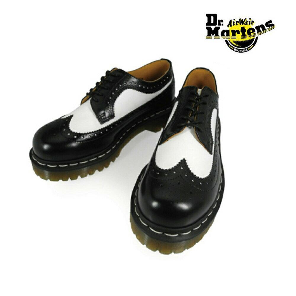 ドクターマーチン Dr.MARTENS WINGTIP SHOE 10458001 BLACK/WHITE ウィングチップ ブラック/ホワイト
