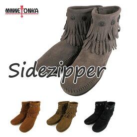 ミネトンカ MINNETONKA SIDE ZIP BOOT 691T 692 693 699サイド ジップ ブーツ grey/brown/brownsuede/blacksuede
