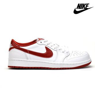 NIKE耐克AIR JORDAN 1空气乔丹705329-101 menzusuuedo复版重新流行低切RED白白WHITE运动鞋