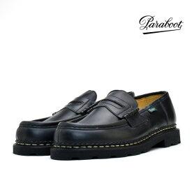 パラブーツ PARABOOT REIMS 099412 BLACK ランス ブラック 黒 ローファー カジュアル ドレス シューズ 革靴 メンズ【送料無料】