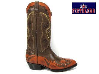 Pistoleros PISTOLERO 2117 (4048) western boots/cow boy brown lether Western boots brown leather cowboy boots embroidery stitch