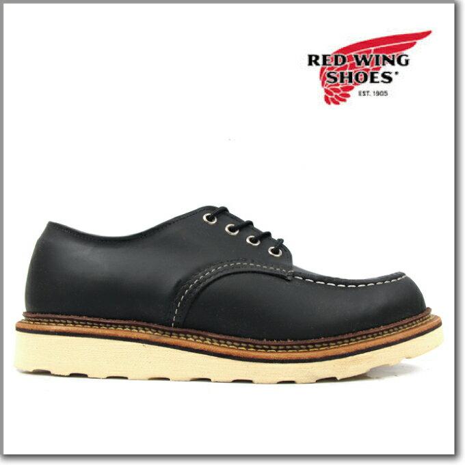レッドウィング オックスフォード REDWING 8106 WORK OXFORD MOC TOE BLACK CHROME モカシントゥ ブーツ レザー ワークブーツ あす楽