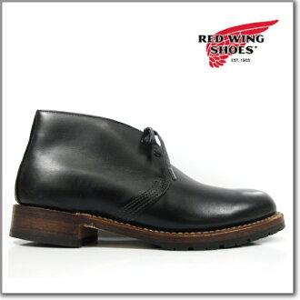红翼红翼 9024 贝克曼 CHUKKA 靴子黑色 DWIDTH 贝克曼 chukka 靴子黑色皮革皮革车间经典靴子穿衣服 ◆