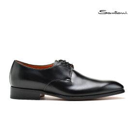【3/1 0:00〜23:59 ワンダフルデー エントリーでポイント最大13倍】サントーニ ビジネスシューズ ドレスシューズ メンズ プレーントゥ 革靴 ブラック 黒 Santoni MCCR11401JC6IOBRN01【送料無料】