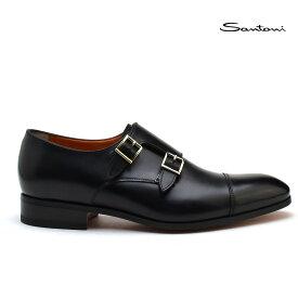 【3/1 0:00〜23:59 ワンダフルデー エントリーでポイント最大13倍】サントーニ Santoni MCCR 15006 BA1IOBRN01 モンクストラップ ブラック ドレスシューズ 靴 メンズ【送料無料】