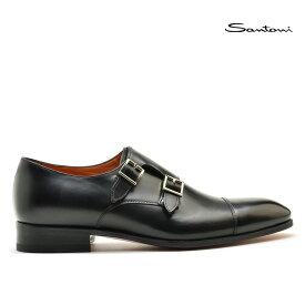 【3/1 0:00〜23:59 ワンダフルデー エントリーでポイント最大13倍】サントーニ Santoni MCCR 15006 BA1IOBSN01 革靴 メンズ ブラック BLACK ダブルモンクストラップ ドレスシューズ【送料無料】