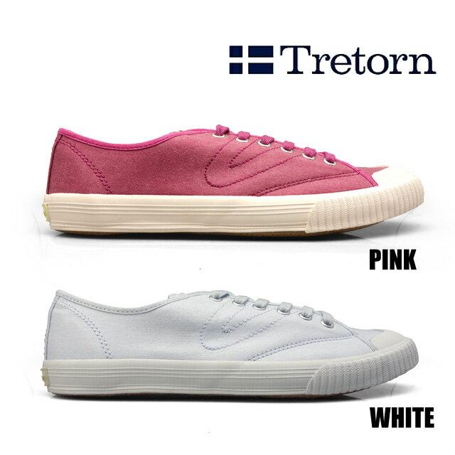 TRETORN トレトン トーナメント ウォッシュト TOURNAMENT WASHED 473081 メンズ レディース HAZE WHITE レッド ホワイト スニーカー