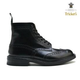 トリッカーズ カントリーブーツ ブラック ボックス カーフ 黒 TRICKER'S MALTON STOW BLACK BOX CALF M2508 M5634 モルトン ストウ ダイナイトソール シューズ