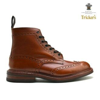 Trickers 骗子国家莫尔顿国家引导 M2508 栗子古董靴 ダイナイトソール M2508 板栗古董 ◆