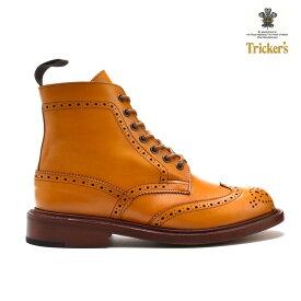 【父の日】トリッカーズ TRICKER'S カントリーブーツ COUNTRY BOOT L5676 ダブルレザーソール ACORN ウィングチップ レディース ギフト プレゼント ラッピング