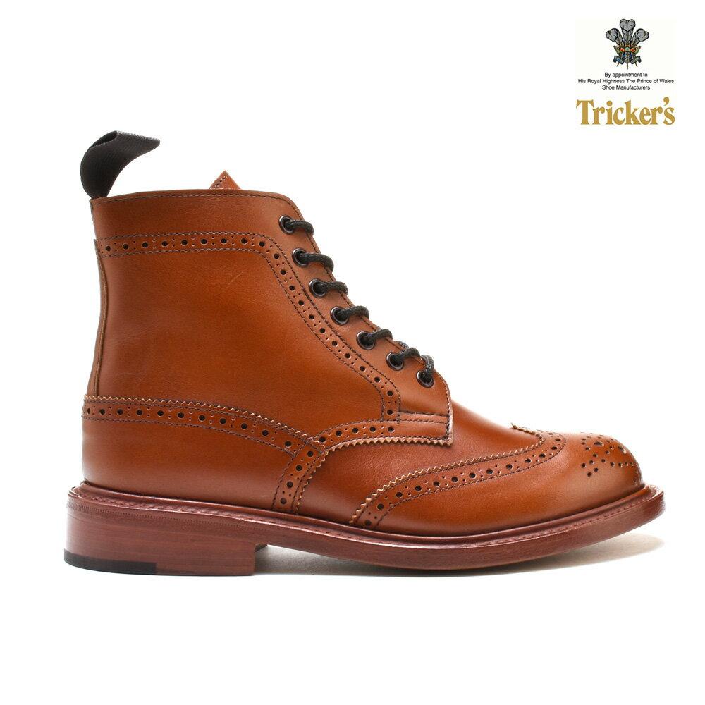 トリッカーズ TRICKERS カントリーブーツ COUNTRY BOOT L5676 ダブルレザーソール MARRON ウィングチップ レディース