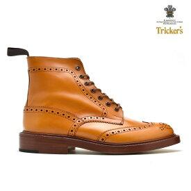 【父の日】トリッカーズ TRICKER'S 2508 カントリーブーツ エイコーン ダブルレザーソール ウィングチップ ブローグシューズ メンズ ギフト プレゼント ラッピング