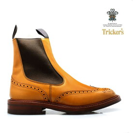 【ハッピーな週末くん】トリッカーズ TRICKER'S ACORN ANTIQUE M2754 ELASTIC SIDED BROGUE BOOTS HENRY SIDE GORE ダイナイトソール エイコン アンティークエラスティック ブローグ ブーツ