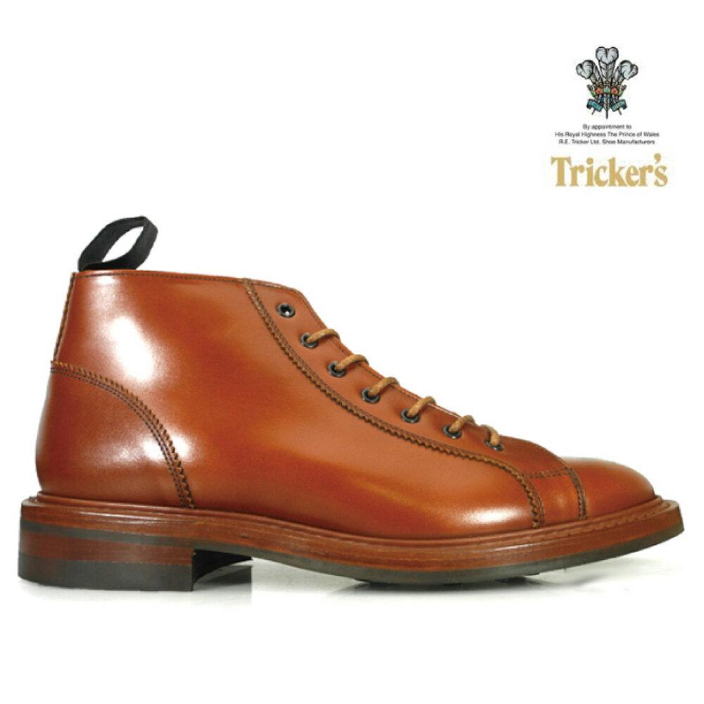 トリッカーズ TRICKER'S M6077 MARRON ANTIQUE7HOLES MONKEY BOOTS LACE UPM6077 マロン アンティーク 7ホール モンキー ブーツ ダイナイトソール マルーン
