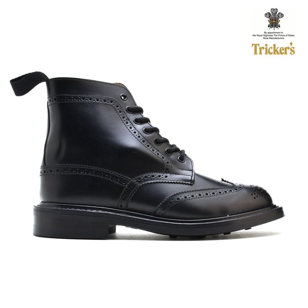 トリッカーズ TRICKER'S L5676 STEPHY BLACK BOX CALF ステフィー カントリーブーツ ブラック 黒 ダイナイトソール レディース