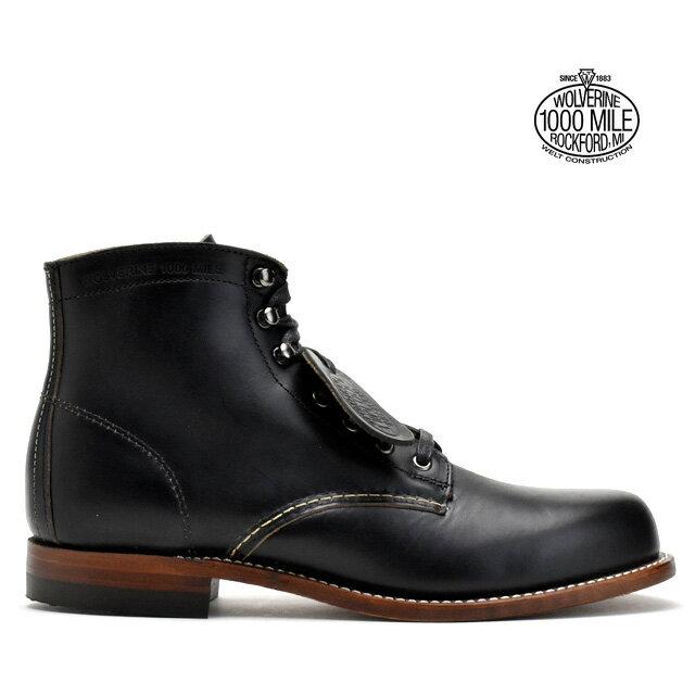 ウルヴァリン 1000マイルブーツ WOLVERINE W05300 ブラック ホーウィンクロムエクセル メンズ ブーツ 1000MILE BOOT Horween Chromexcel Leather MADE IN USA