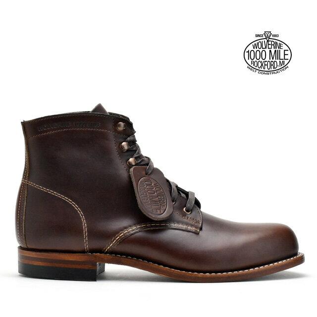 ウルヴァリン 1000マイルブーツ WOLVERINE W05301 ブラウン ホーウィン クロムエクセル レザー メンズ ブーツ 1000MILE BOOT Brown Horween Chromexcel Leather MADE IN USA