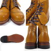 Wolverine WOLVERINE ADDISON BOOT Wolverine Wolverine Addison boots Tan wing tip Vibram sole 1000 mile mustard camel ◆