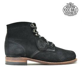 ウルヴァリン WOLVERINE W40388 1000 MILE 6インチ BOOT BLACK SUEDE ブーツ シューズ ブラック スエード メンズ【送料無料】