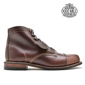 ウルヴァリン WOLVERINE 1000MILE BOOTS W40555 BROWN 1000マイルブーツ キャップ トゥ ブーツ ワークブーツ ビブラムソール ブラウン メンズ【送料無料】