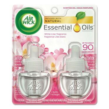 芳香剤コンセント式エアウィックオイル芳香剤ホワイトライラック20ml×2Pパック(詰替えボトル)AIRWICK日用品アメリカ雑貨