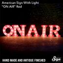 アメリカンサイン ウィズ ライト 「ON AIR」 (オンエアー ) カフェ インテリア 照明 オブジェ アメリカ アメリカ雑貨 アメリカン雑貨