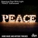 アメリカンサイン ウィズ ライト 「PEACE」(ピース) 【カフェ、インテリア、照明、オブジェ、アメリカ】