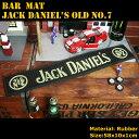 バーマット「JACK DANIEL'S Old No.7 ジャックダニエル」 エナジードリンク バーカウンター インテリア アメリカ雑貨 アメリカン雑貨