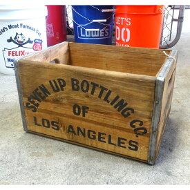 7UP セブンアップ ウッドボックス (M ) ウッドクレート 木箱 ディスプレーボックス インテリア アメリカ雑貨 アメリカン雑貨