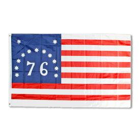 フラッグ ベニントンフラッグ 150×90cm ナイロン製 76星条旗 フィルモアフラッグ 旗 タペストリー ナイロン製 アメリカ アメリカン雑貨