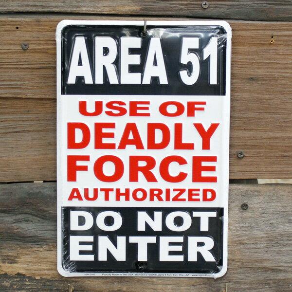 ティンサインプレート 「Area51」 #SPSET2 ガレージング 看板 アメリカ雑貨 アメリカン雑貨